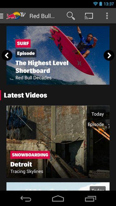 Скачать Red Bull TV на Андроид screen 2