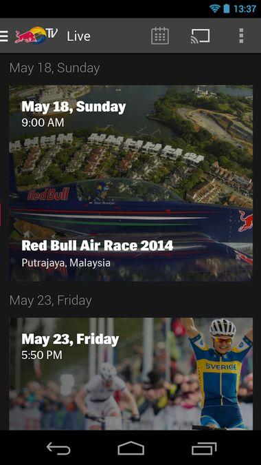 Скачать Red Bull TV на Андроид screen 4