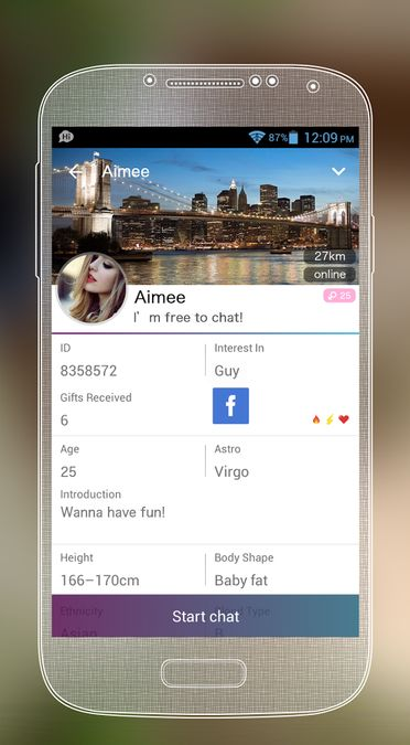 Скачать SayHi на Андроид screen 1