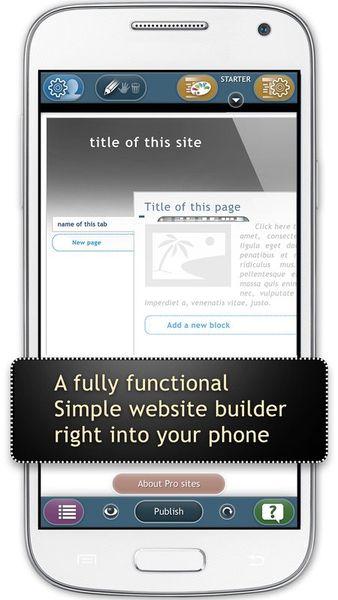 Скачать Website Builder Sim Dif на Андроид screen 1