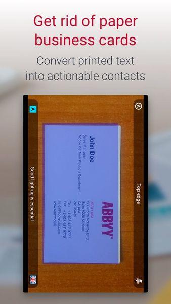 Скачать Business Card Reader на Андроид — Полная версия screen 1