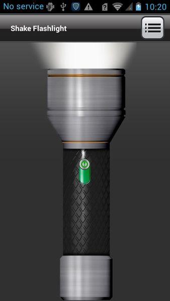 Скачать Встряхиваемый фонарик на Андроид screen 1