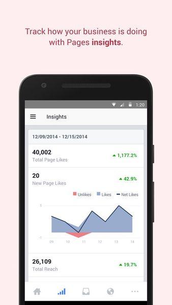 Скачать Менеджер Страниц Facebook на Андроид screen 1