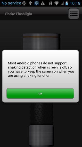 Скачать Встряхиваемый фонарик на Андроид screen 2