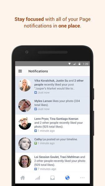 Скачать Менеджер Страниц Facebook на Андроид screen 2