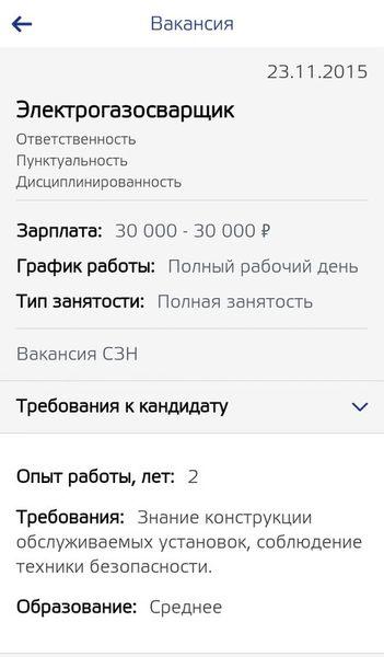 Скачать Работа в России на Андроид screen 2