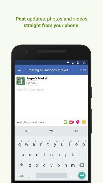 Скачать Менеджер Страниц Facebook на Андроид screen 3