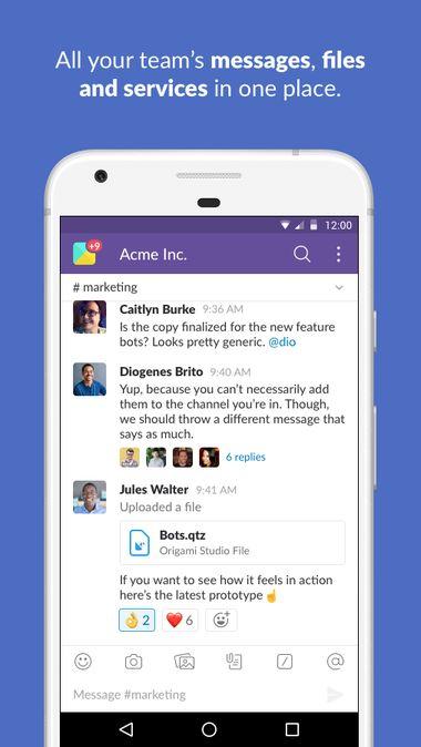 Скачать Slack на Андроид — Полная версия screen 1