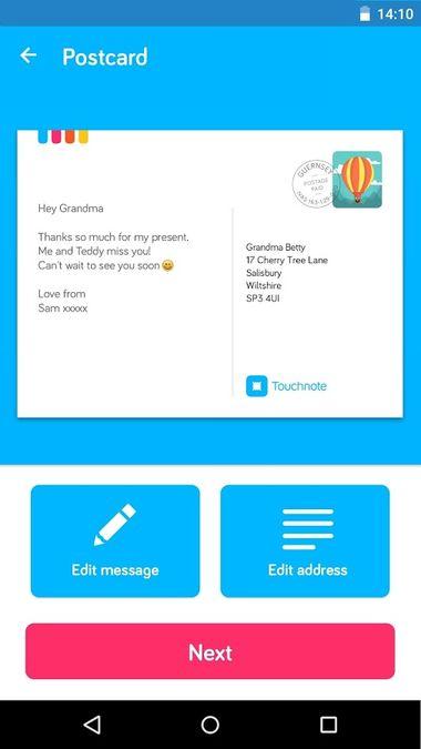 Скачать TouchNote на Андроид — Последняя версия screen 3