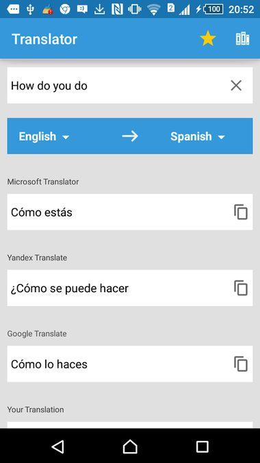 Скачать Translate Box: translations from all translators на Андроид — Полная версия screen 1