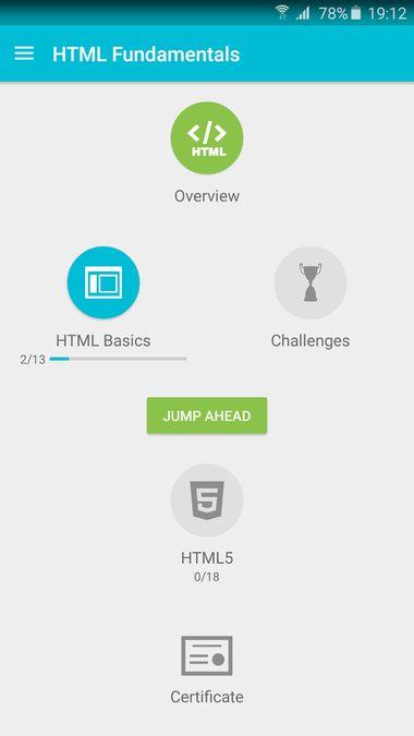 Скачать Учим HTML на Андроид screen 2
