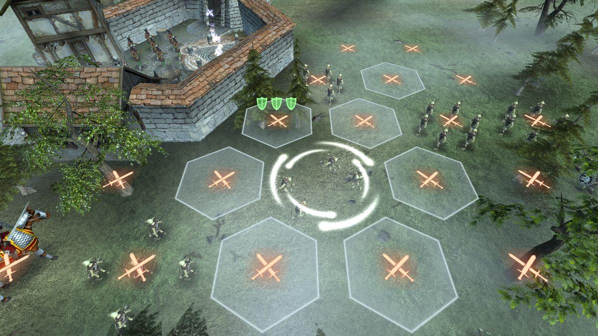 Скачать Hex Commander: Fantasy Heroes на Андроид — Мод много монет screen 3