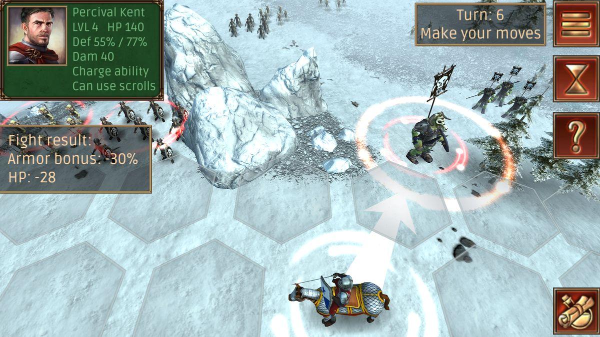 Скачать Hex Commander: Fantasy Heroes на Андроид — Мод много монет screen 1