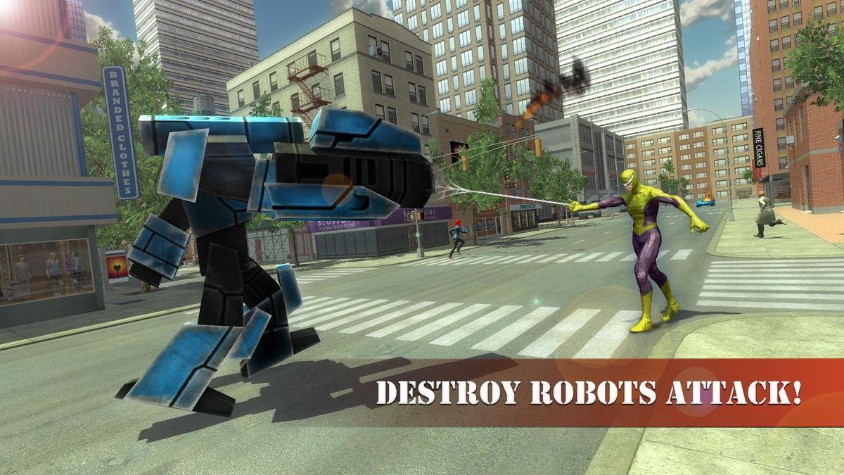 Скачать Super Spider Rescue Hero на Андроид screen 3