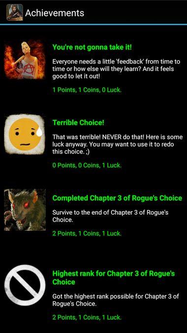 Скачать Rogue's Choice на Андроид screen 4