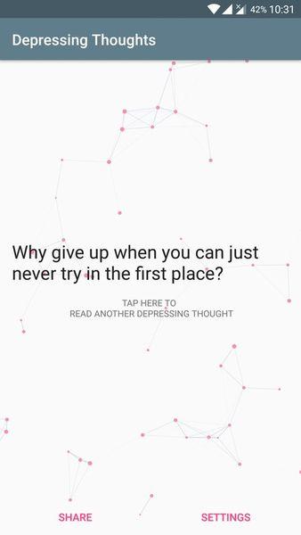 Скачать Depressing Thoughts на Андроид screen 1