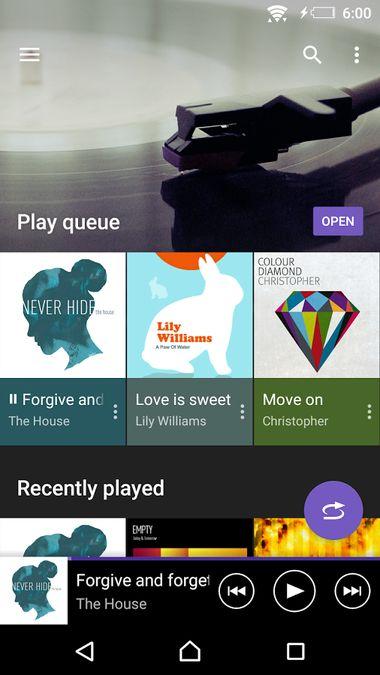 Скачать SONY Музыка на Андроид screen 1