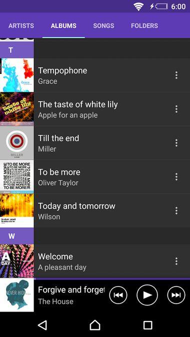 Скачать SONY Музыка на Андроид screen 3