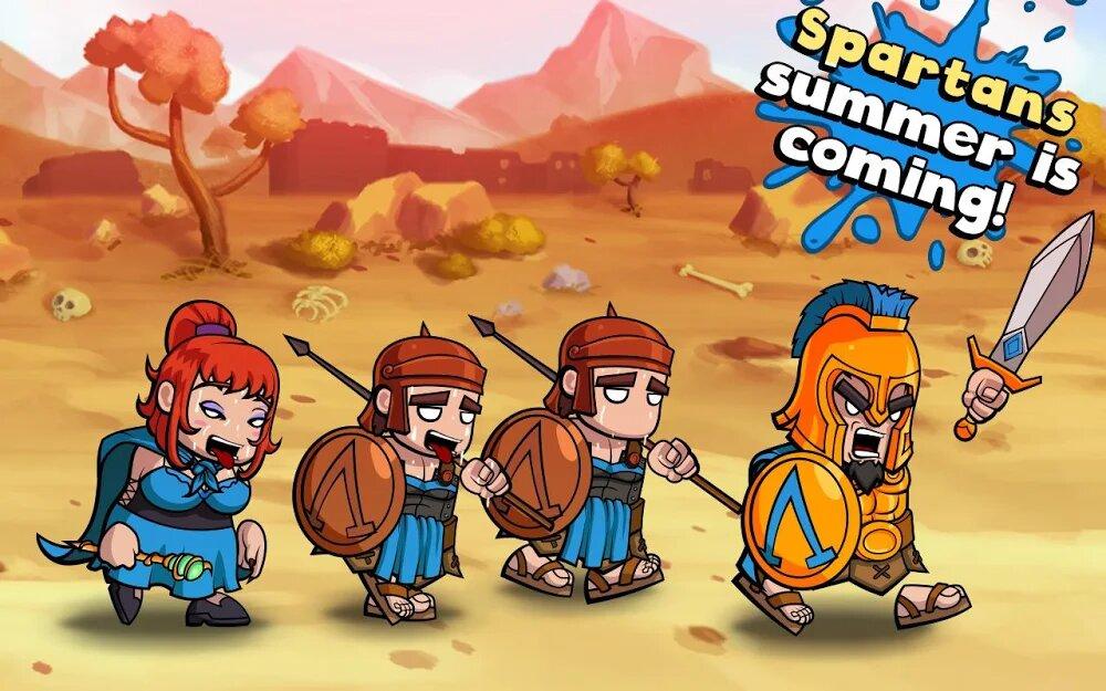 Скачать Spartania: The Spartan War на Андроид — Мод (Много Денег) screen 3