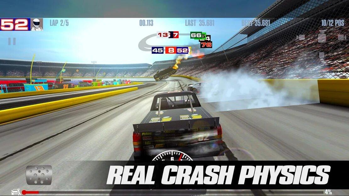 Скачать Stock Car Racing на Андроид — Мод (Много денег) screen 2