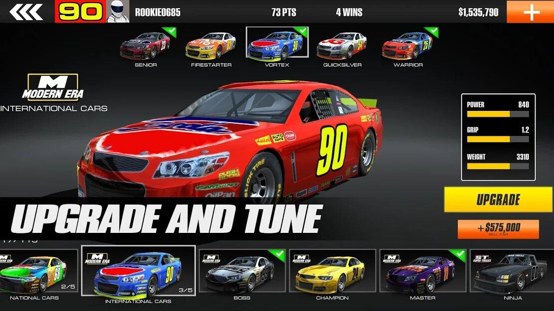Скачать Stock Car Racing на Андроид — Мод (Много денег) screen 1
