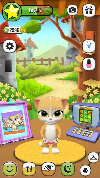 Скачать Моя Говорящая Кошка Эмма на Андроид — Мод (Свободные Покупки) screen 4