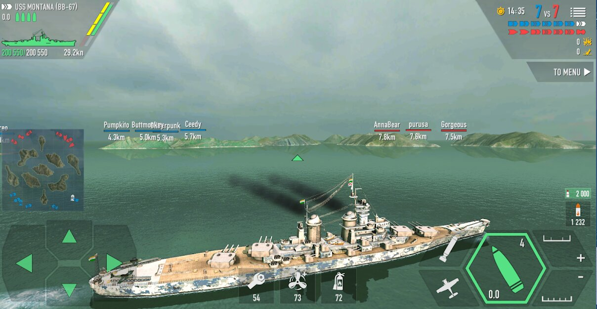 Скачать Battle of Warships: Морской бой на Андроид — Мод (Много Денег) screen 1