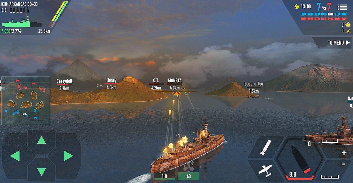 Скачать Battle of Warships: Морской бой на Андроид — Мод (Много Денег) screen 4