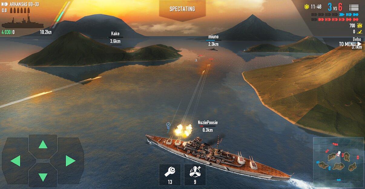 Скачать Battle of Warships: Морской бой на Андроид — Мод (Много Денег) screen 2