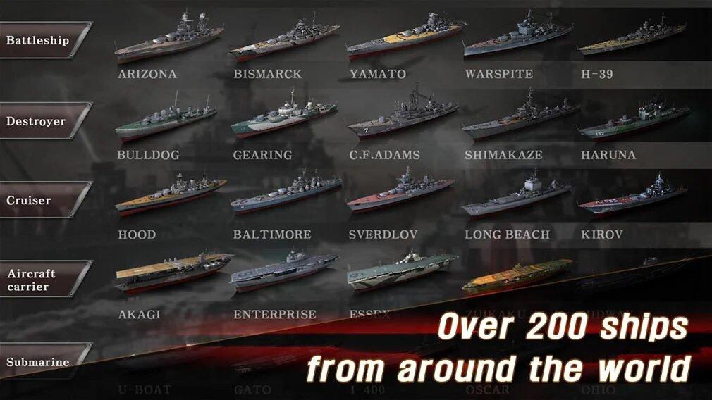 Скачать Морская битва: Мировая война на Андроид — Мод (Много денег) screen 4