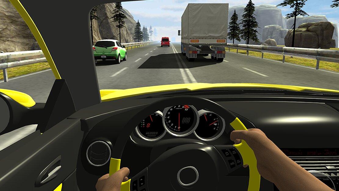 Скачать Racing in Car 2 на Андроид — Мод (Много денег) screen 1