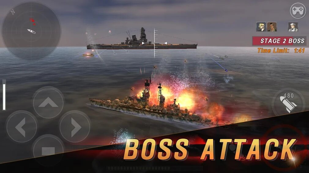 Скачать Морская битва: Мировая война на Андроид — Мод (Много денег) screen 2