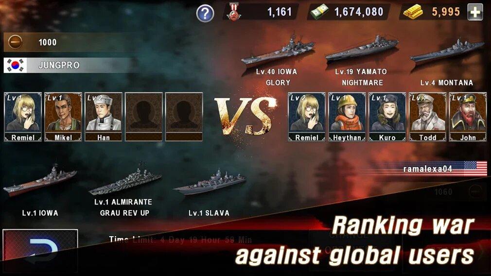 Скачать Морская битва: Мировая война на Андроид — Мод (Много денег) screen 1