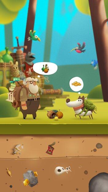 Скачать Мой копающий пес (My Diggy Dog) на Андроид — Мод (Много денег) screen 3